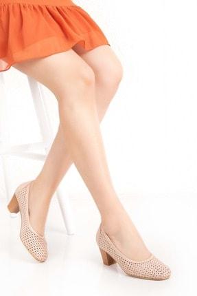 Gondol Kadın Vizon Hakiki Deri Klasik Topuklu Ayakkabı