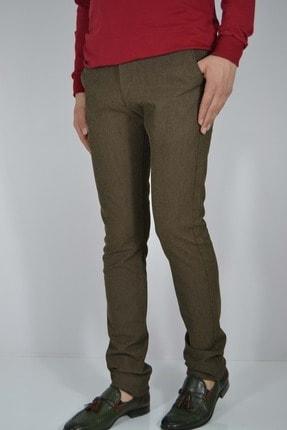 ALBATROS Erkek Kahverengi Keten Pantolon