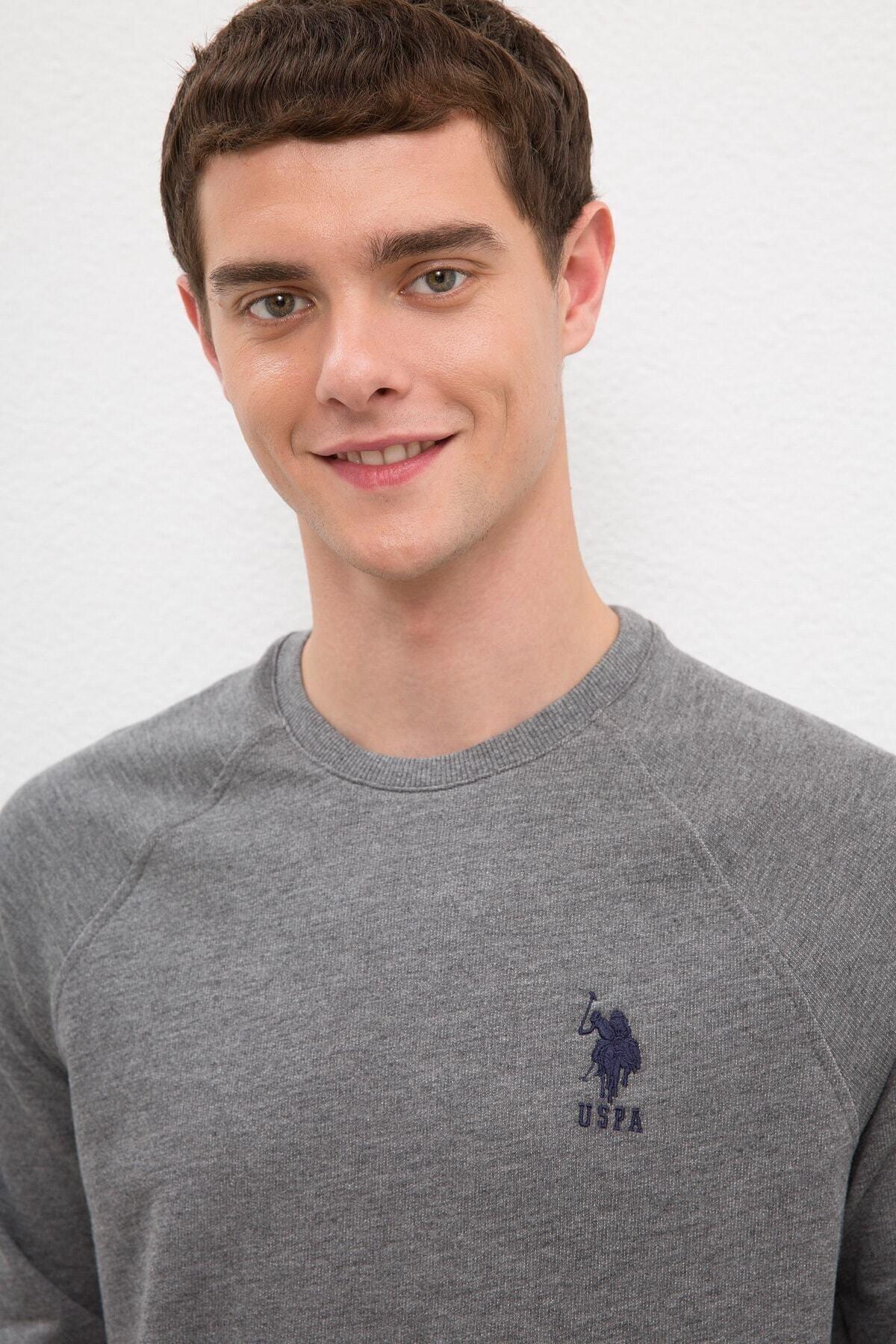 U.S. Polo Assn. Grı Erkek Sweatshirt 2