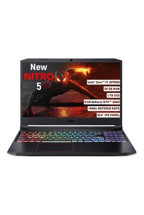 "ACER Nitro 5 Intel Core I7 10750h 32gb 1 Tb Ssd Rtx 3060 Freedos 144 Hz 15.6"" Fhd Ips Nh.qb2ey.003"