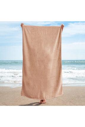 Dry&More Doğa Dostu Pembe Düz Renk Plaj Havlusu