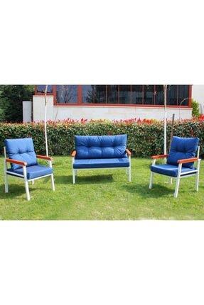Piranlar Summer Mavi Veranda Balkon Mobilyası - Çay Seti