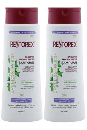 Restorex Sağlıklı Uzama Etkili  Saç Dökülmesine Karşı Sampuan  500 ml  X 2 Adet