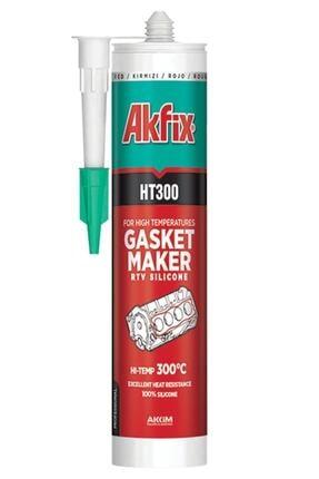 Akfix Ht300 Yüksek Isı Silikonu Kırmızı 310 ml