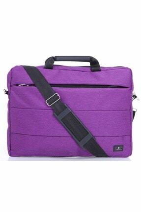 "Beutel Linien 15.6"" Mor Unisex Evrak Notebook Laptop Çantası"