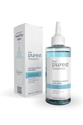 The Purest Solutions Gözenek Sıkılaştırıcı Ve Arındırıcı Tonik 200 ml (GLYCOLİC ACİD 5% AHA BHA)