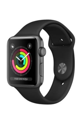 Apple  Watch Seri 3 GPS 38mm Space Grey Aluminium Case with Black Sport Band 0