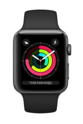 Apple  Watch Seri 3 GPS 38mm Space Grey Aluminium Case with Black Sport Band 1