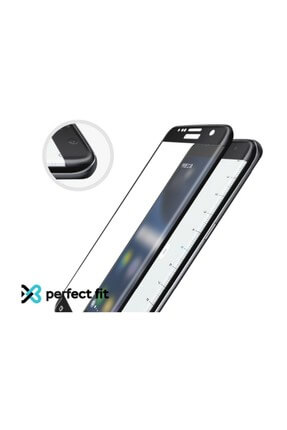 Eiroo iPhone X / XS Curve Tempered Glass Full Siyah Cam Ekran Koruyucu 2