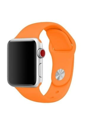 Melefoni Apple Watch 38mm Kordon Silikon Kayış Pembe 1