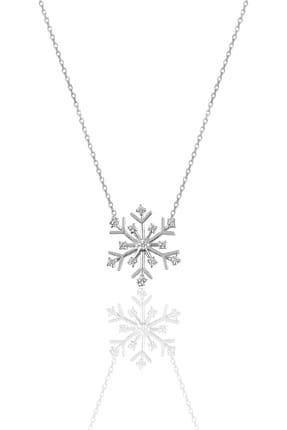 Söğütlü Silver Kadın Gümüş Zirkon Taşlı Kartanesi Kolye SGTL9668 0