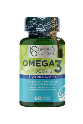 Natures Supreme Omega 3 1000 Mg 60 Kapsül 0