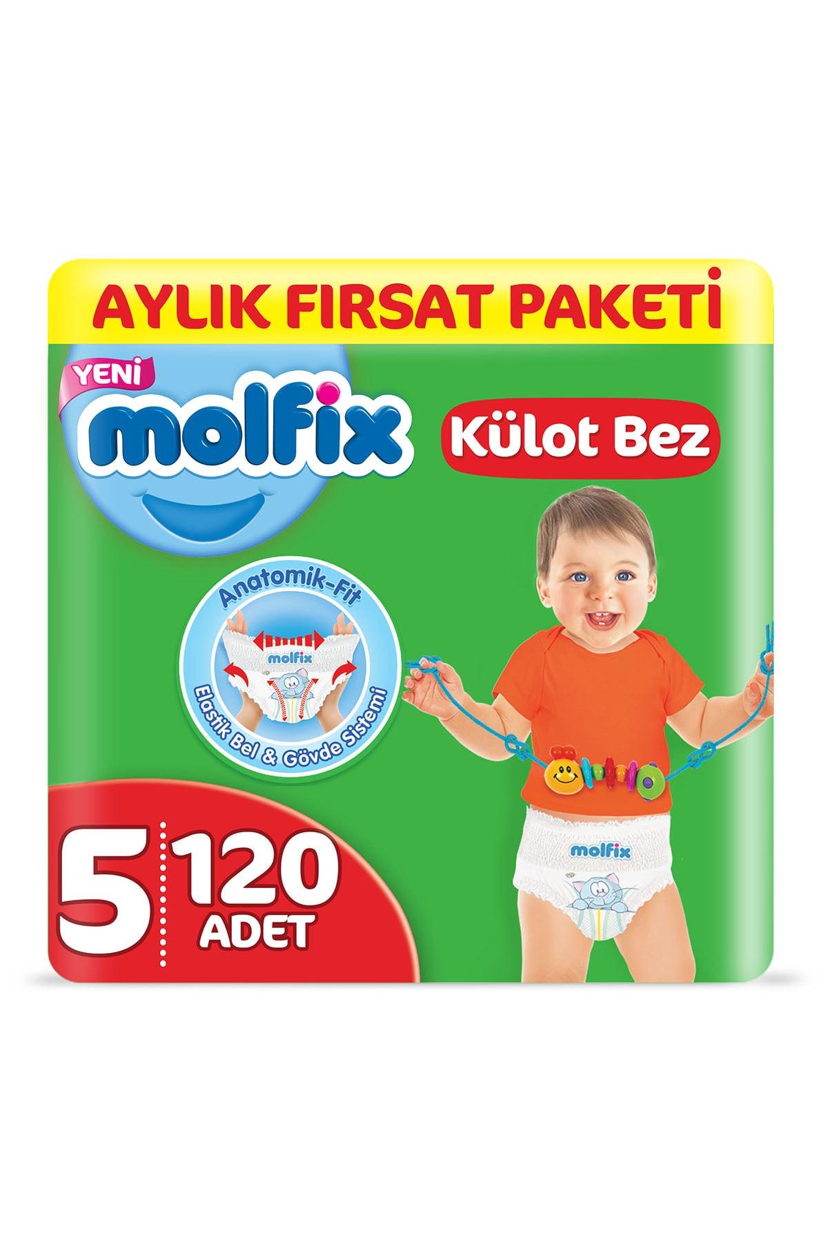 Molfix Külot Bez 5 Beden Junior Aylık Fırsat Paketi 120 adet 0