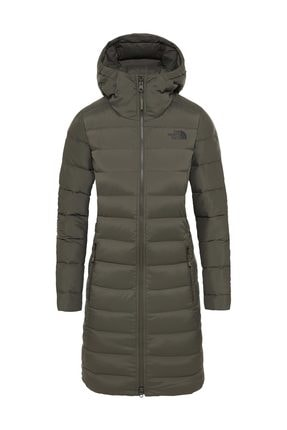 The North Face Stretch Down Kadın Outdoor Mont Haki 0