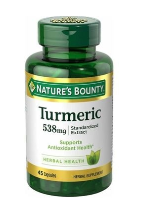 Natures Bounty Turmeric Std. Extract 538 mg 45 Kapsül 0
