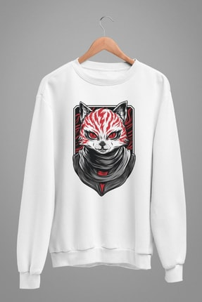 Angemiel Wear Creepy Cat Erkek Sweatshirt A0232WE 1