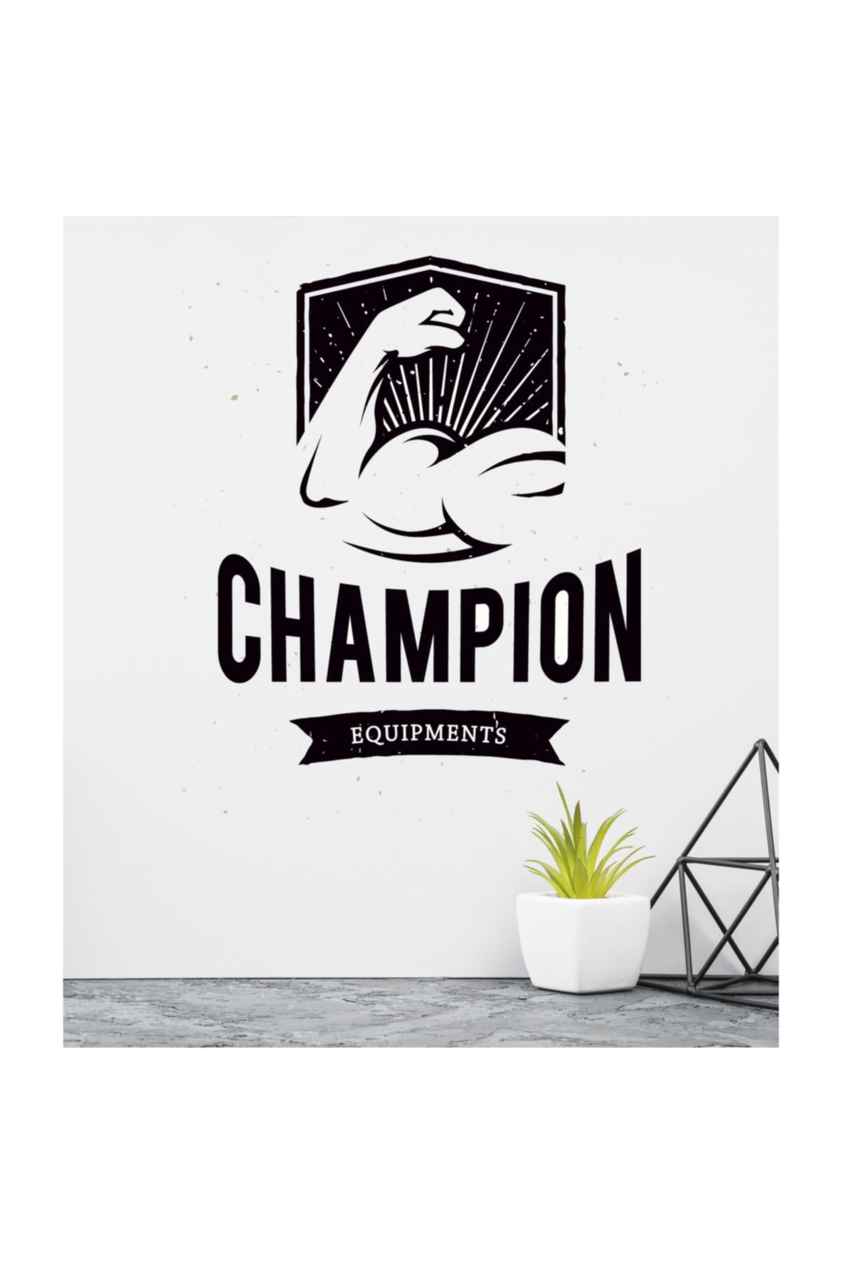 Champion Fitness Equipments Dekoratif Duvar Sticker