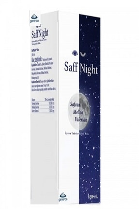 SaffNight Şurup Sıvı 180 ml 0