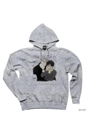 Zepplin Giyim Yuri On Ice Viktor Gri Kapşonlu Sweatshirt / Hoodie 0