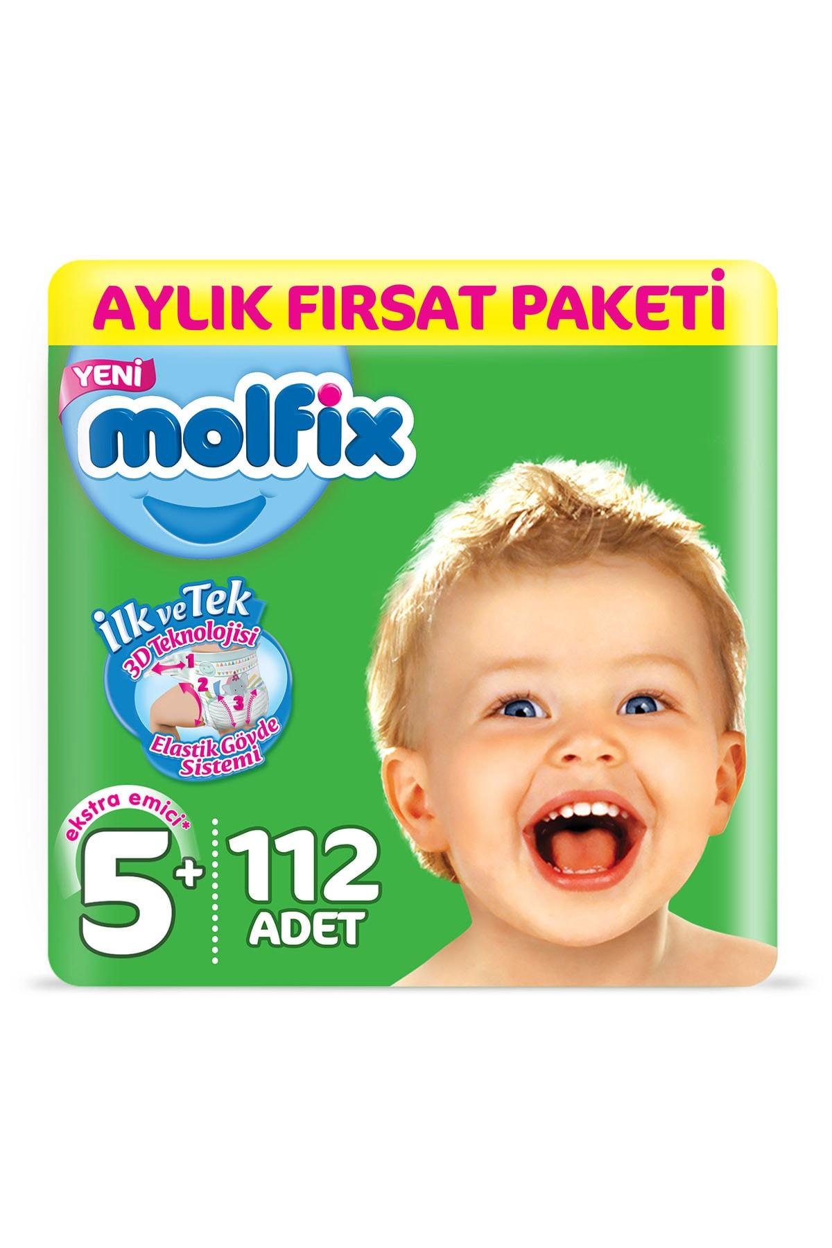 Molfix Bebek Bezi 5+ Beden Junior Plus Aylık Fırsat Paketi 112 Adet 0