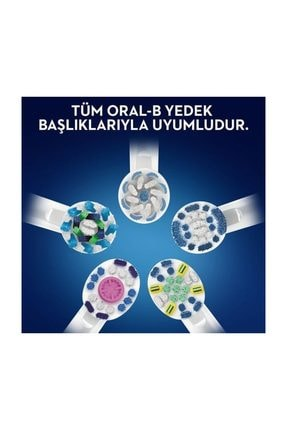 Oral-B D100 Vitality Cross Action Siyah + D100 Vitality Sensitive Ultrathin Şarjlı Diş Fırçası White 3