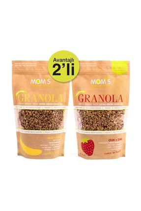 Mom's Natural Foods 2'Lİ GRANOLA - MUZ CEVİZ 360 gr - ÇİLEK CHIA 360 gr 0