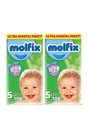 Molfix Bebek Bezi Ultra Avantaj Paketi Junior 5 Beden 216 Adet 0