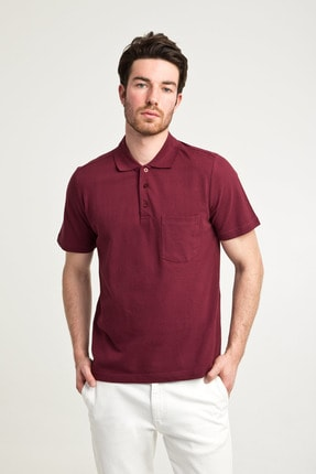 Kiğılı Erkek Bordo Polo Yaka T-Shirt - Cdc01 1