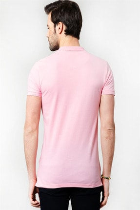 Tudors Slim Fit Polo Yaka Pembe Erkek T-Shirt 2