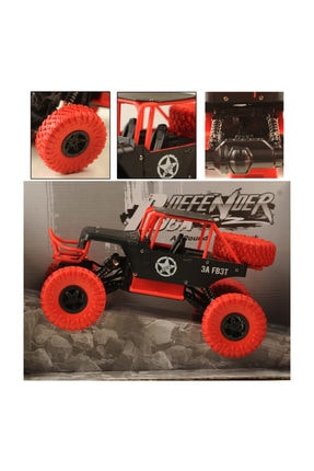 BEREN 1:14 Rock Defender Off Road 2.4ghz 4x4 U/k Buggy Jeep -Dağda, Çölde, Kayalıklarda Giden Rock Crawler 2