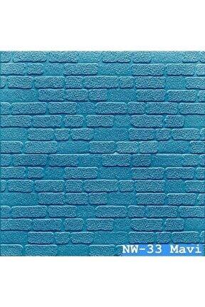5 Renk Seçeneğiyle Kendinden Yapışkanlı Mini Taş Sünger Panel Nw-33 Mavi
