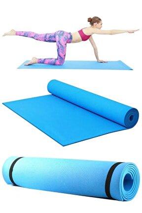 Yoga Matı Pilates Minderi 140x50 Cm Mavi