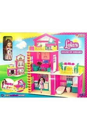 Lola'nın Düşler Evi 3 Katlı Aksesuarlı