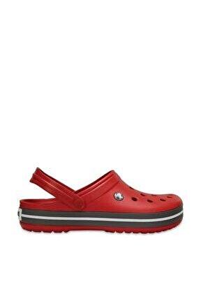 Kırmızı Unisex Crocband Kenarı Siyah Çizgili Terlik