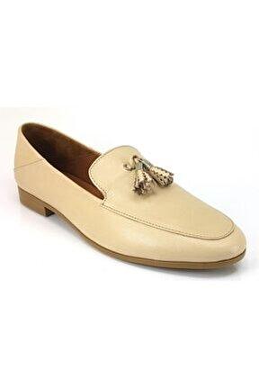 Kadın Bej Püsküllü Ayakkabı 21983503