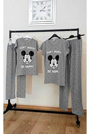Anne Kız Kombin Pijama Takım