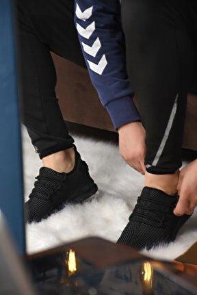 Erkek Siyah Triko Spor Ayakkabı Ba21026