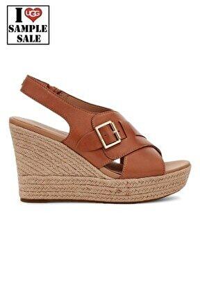 Kadın Kahverengi Dolgu Topuklu Ayakkabı