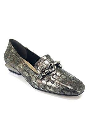 Kadın Gri Deri Ayakkabı