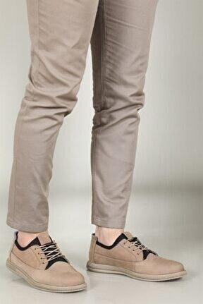 3726 Vizon Lastik Bağcık Hakiki Deri Erkek Casual Ayakkabı