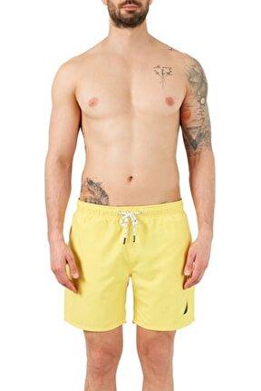 Erkek Sarı Deniz Şortu