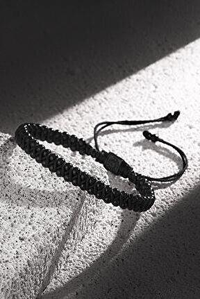 Erkek Siyah Sıralı Doğal Taşlı Bileklik Frj11166-1266-b2
