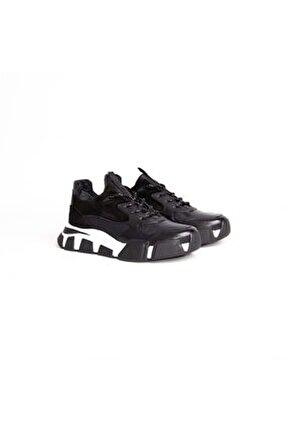 Erkek Siyah Hakiki Deri Casual Ayakkabı 12546