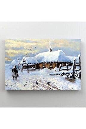 Beyaz Manzarası Dekoratif Kanvas Tablo