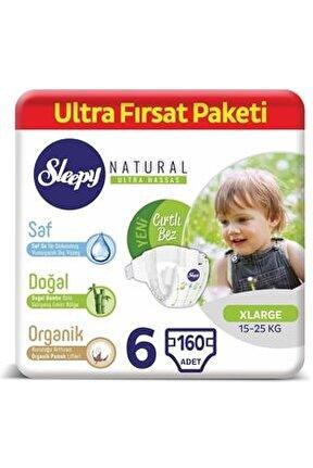 Natural Bebek Bezi 6 Numara Xlarge Ultra Fırsat Paketi 160 Adet