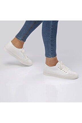 Kadın Beyaz Vegan Sneakers ve Spor Ayakkabı 776 3214 Sk20-21