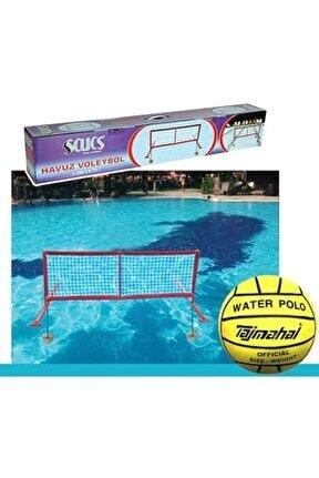 Beyaz Su Topu Hediyeli Havuz Voleybol Filesi
