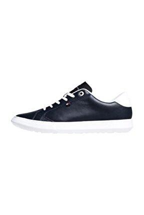 Mavi Erkek Oxford/ayakkabı Fm0fm01987 403 Essentıal Leather Cupsole Low Cut Mıdnıght