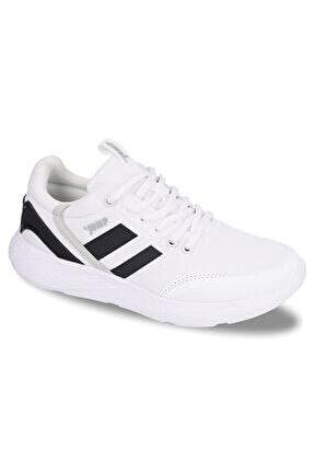 Unısex Beyaz Bağcıklı Spor Ayakkabı