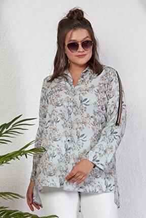 Çiçek Desenli Bluz/gömlek